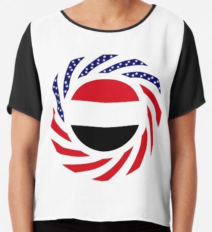 Yemeni American Multinational Patriot Flag Series Chiffon Top