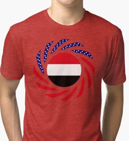 Yemeni American Multinational Patriot Flag Series Tri-blend T-Shirt