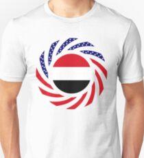 Yemeni American Multinational Patriot Flag Series Slim Fit T-Shirt