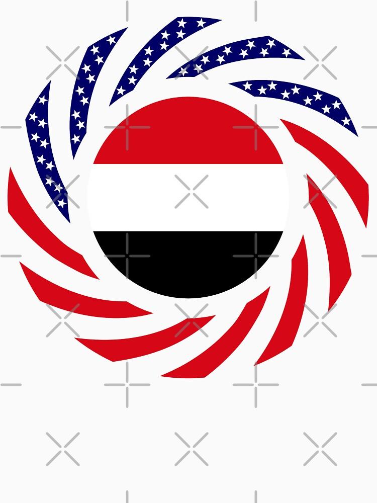 Yemeni American Multinational Patriot Flag Series by carbonfibreme