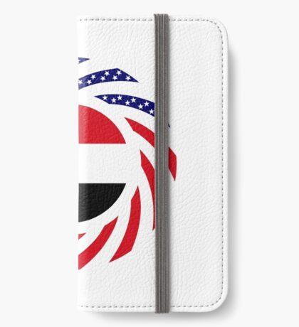 Yemeni American Multinational Patriot Flag Series iPhone Wallet