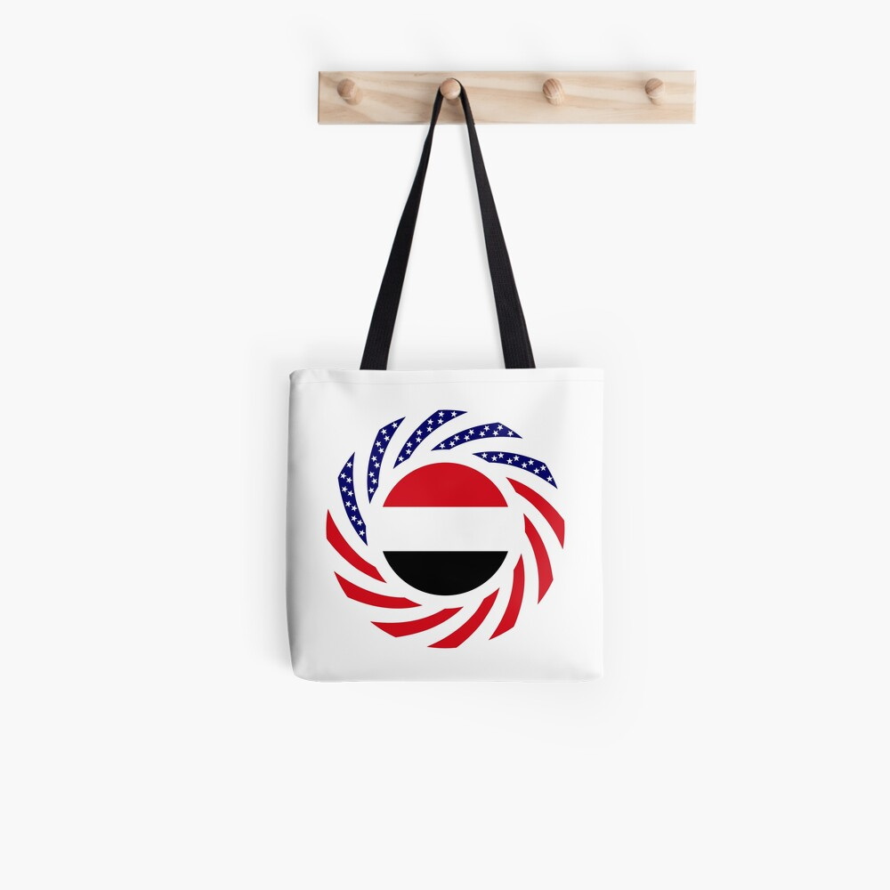 Yemeni American Multinational Patriot Flag Series Tote Bag