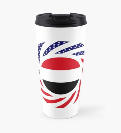 Yemeni American Multinational Patriot Flag Series Travel Mug