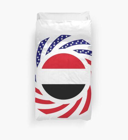 Yemeni American Multinational Patriot Flag Series Duvet Cover