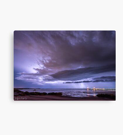 Broome Port Lightning Strike Canvas Print
