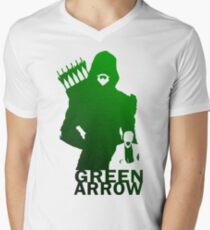 grüner Pfeil T-Shirt mit V-Ausschnitt für Männer