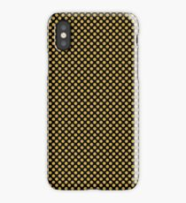 Black and Spicy Mustard Polka Dots iPhone Case/Skin