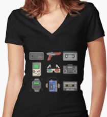 80s Essence Women's Fitted V-Neck T-Shirt