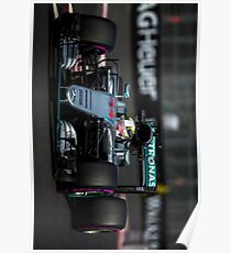 Lewis Hamilton Mercedes Amg Formula 1 Poster