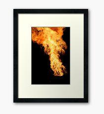 Flaming Framed Print