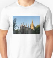 Silver and Gold - Sunrise Lit Kirk of St Nicholas Uniting in Aberdeen Scotland T-Shirt