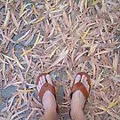 leaves feet by Devan Foster