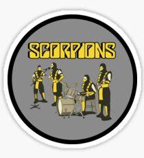 SCORPIONS - MORTAL KOMBAT ROCK BAND Sticker