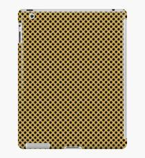Spicy Mustard and Black Polka Dots iPad Case/Skin