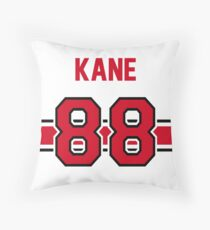 Patrick Kane - Chicago Blackhawks in WHITE Throw Pillow
