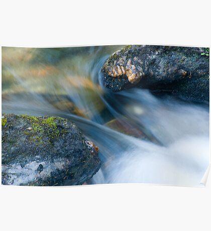 Flowing through the gap, Glen Lyon, Perthshire, Scotland Poster