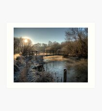 Bridge on the River Itchen Art Print