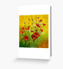 POPPIES AT THE BACK DOOR Greeting Card