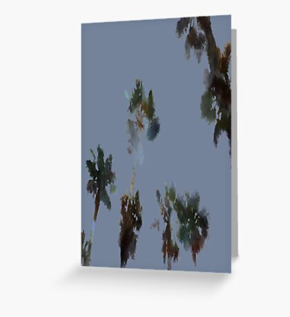 Tropical Palms Isolated Greeting Card