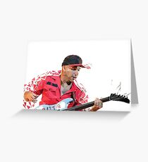 Low Poly Tom Morello Greeting Card