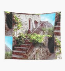 Provence,stair with flowers. Wall Tapestry