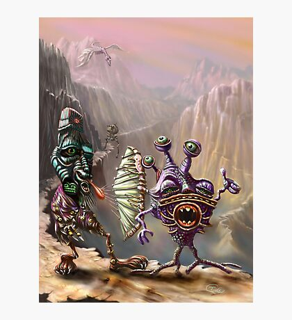 Three Friends cross the Atlip desert Photographic Print