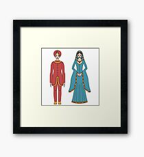 Beautiful traditional man and woman  Framed Print