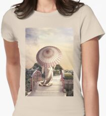 Girl with Parasol Womens Fitted T-Shirt
