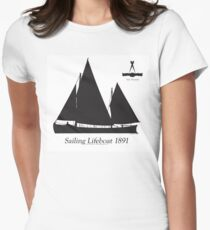 Sailing Lifeboat 1891 by Tony Fernandes Womens Fitted T-Shirt