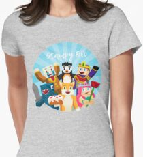 Stampy Cat and His Friends Women's Fitted T-Shirt