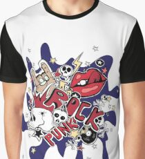Crazy punk rock abstract background.  Graphic T-Shirt
