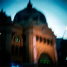 Fuzzy Flinders Street Station by Cameron Stephen