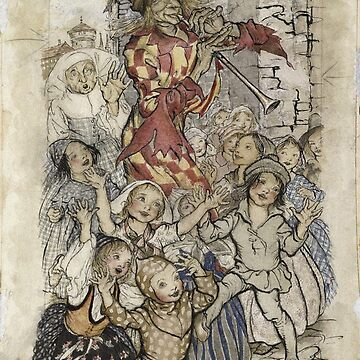 Arthur Rackham - The Pied Piper And The Children by artcenter