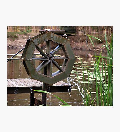 Water Wheel Photographic Print