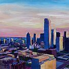 Dallas Texas Impressive Skyline at Dusk by artshop77
