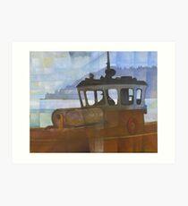 Tug and Dartmouth Castle Art Print