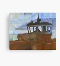 Tug and Dartmouth Castle Canvas Print