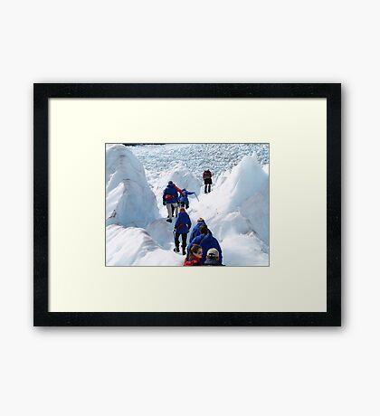 glacier climb    Framed Print