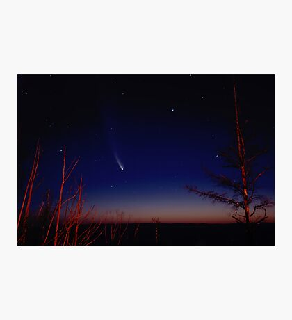 McNaught comet over Shipleys Plateu Photographic Print