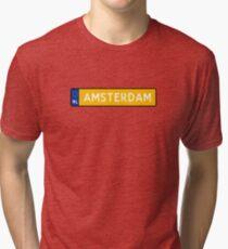 Amsterdam Kenteken Tri-blend T-Shirt