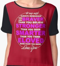To My Wife With Love - Funny Tshirt For Man/Women Chiffon Top