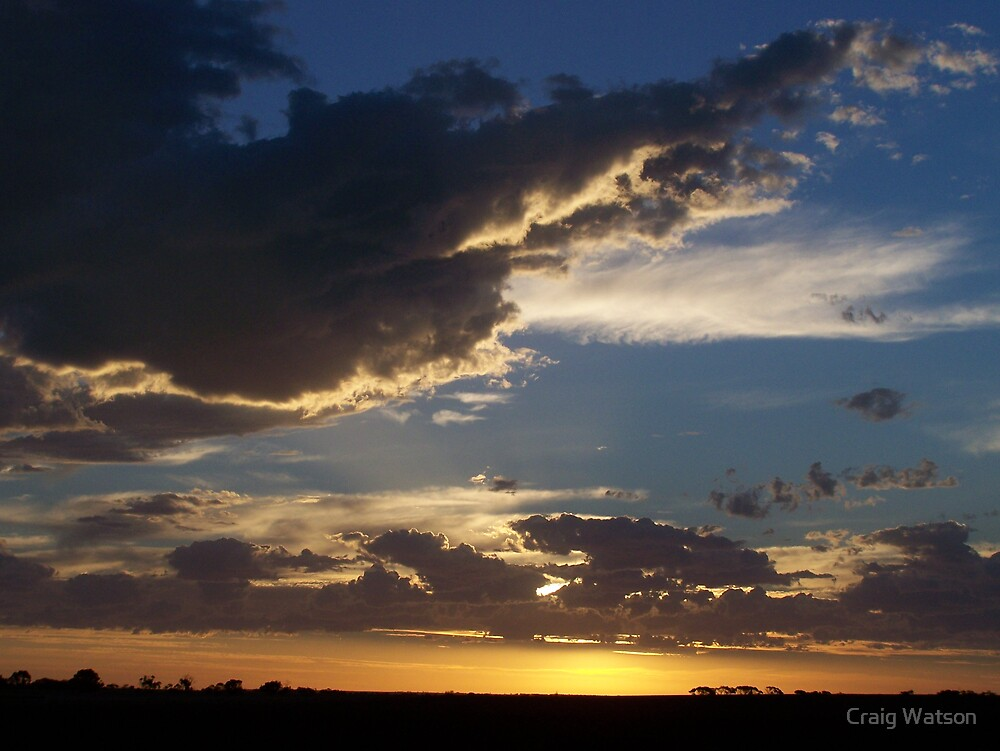 Sunset from southern Yorke Pensinsula on 2nd March 2007 by Craig Watson