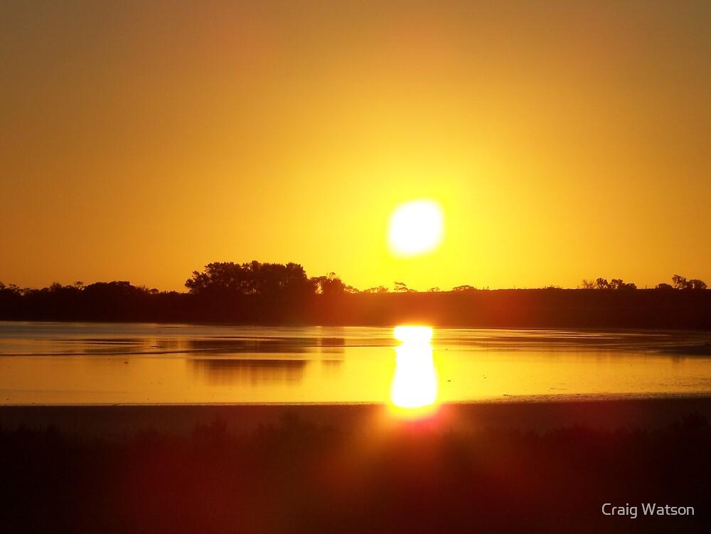Sunset across Lake Sunday 22nd Jan 2007 by Craig Watson