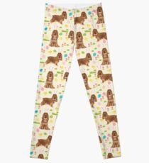Cocker Spaniel easter eggs easter bunny cute spring dog pattern design for spaniel owners by PetFriendly Leggings