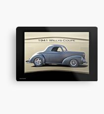 1941 Willys Coupe 'Real Deal - Real Steel' Metal Print