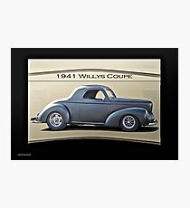 1941 Willys Coupe 'Real Deal - Real Steel' Photographic Print