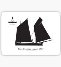 West Country Lugger 1887 by Tony Fernandes Sticker