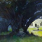 Lupton House Ancient Yew Trees by Bernard Barnes