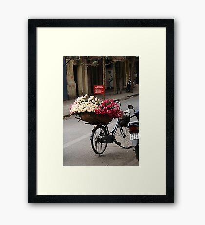 basket of roses : 1189 views Framed Print