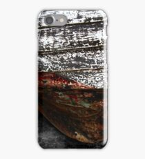 Chipped Paintwork, Old Boat, Cornwall iPhone Case/Skin